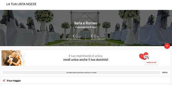 Lista nozze online Orchidea Viaggi